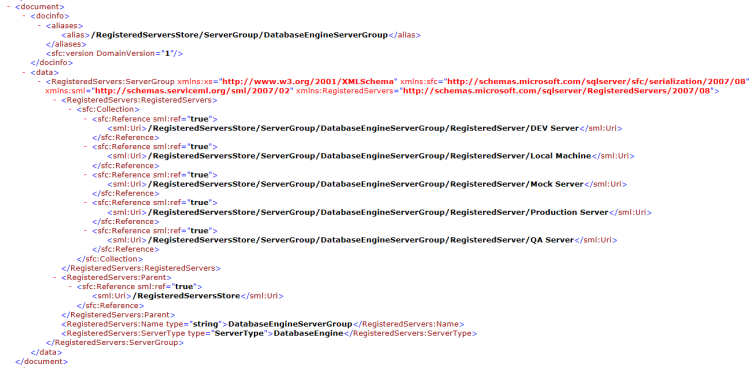regsrvr-xml-file