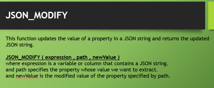 JSON_MODIFY Function