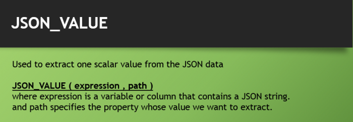 JSONVALUE Function