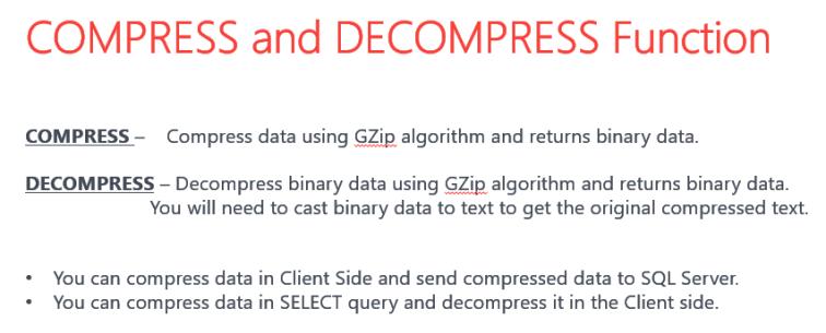 Compress Decompress