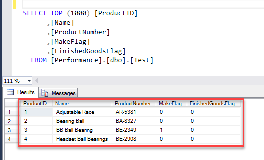 SQl Table CSV File