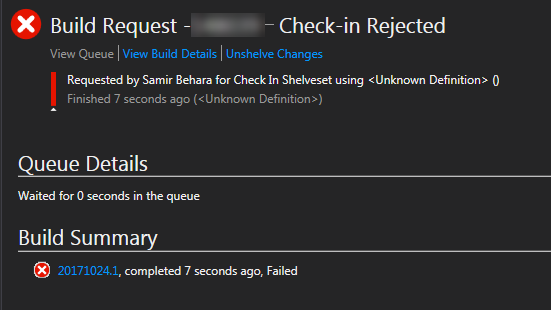 Check-in Rejected