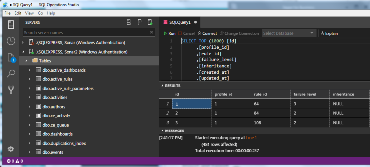 Darl SQL Operations Studio Default