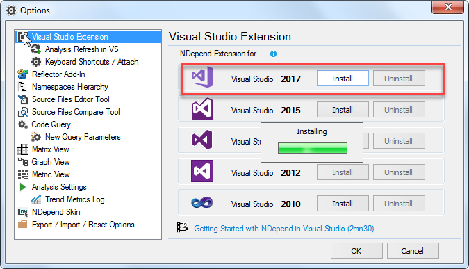 VS 2017 Extension