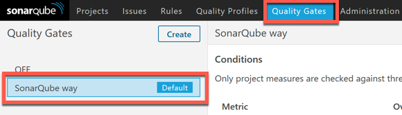 Default Quality Gate