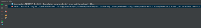 Intellij IDEA Build Error