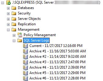 SQL Server Logs