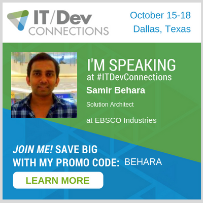 Speaking at IT/Dev Connections, Dallas 2018