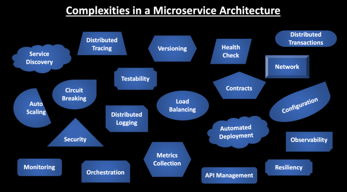 Complexities in a Microservice Architecture