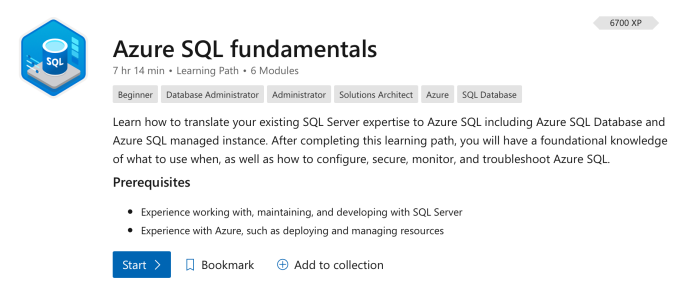 Azure SQL Fundamentals