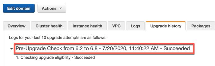 PreCheck Upgrade Success