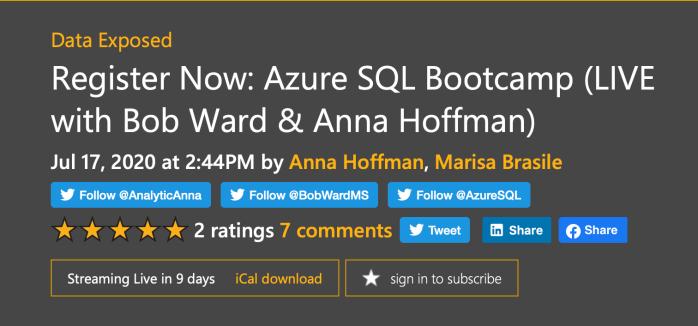 Azure SQL Bootcamp